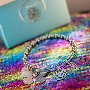 Jewelry - Butterfly Beaded Stainless Steel Bracelet